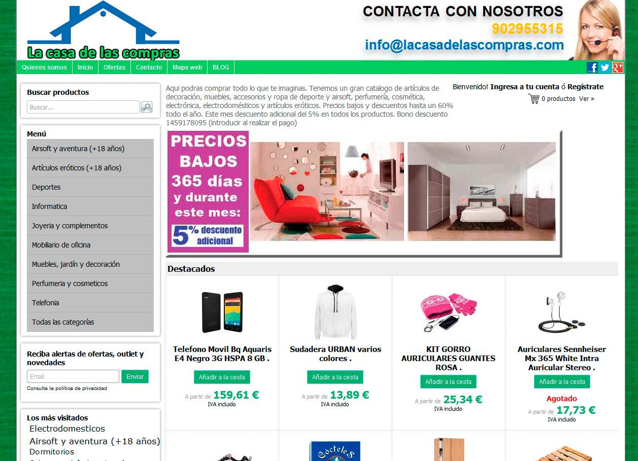 Tienda online de una amplia gama de productos para el for Articulos para el hogar online