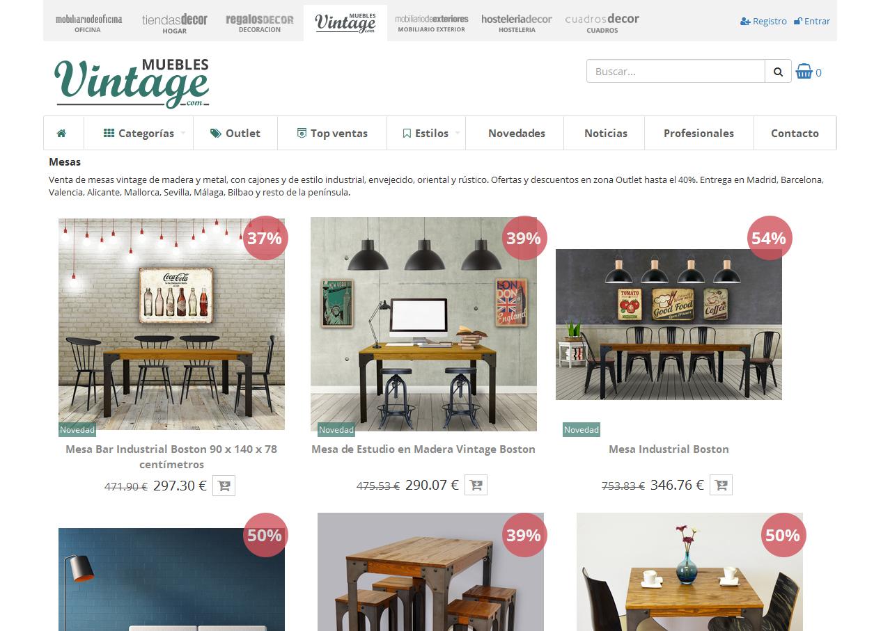 Muebles y decoracion vintage para el hogar for Muebles y decoracion para el hogar
