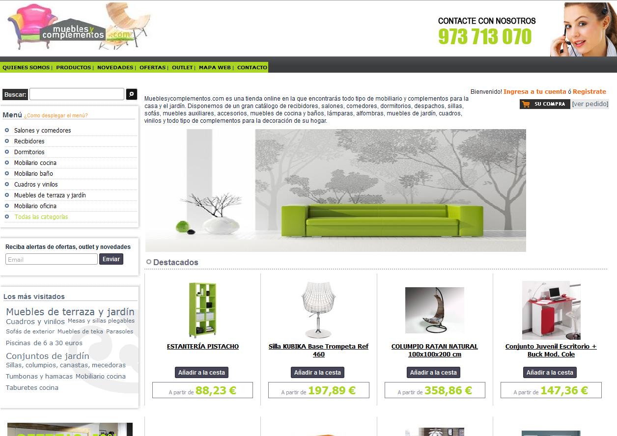 Lanzamiento de nueva web de muebles y complementos para el for Web de muebles