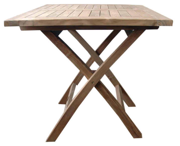 Bonita mesa de madera teka para tu terraza for Mesas de madera para terraza